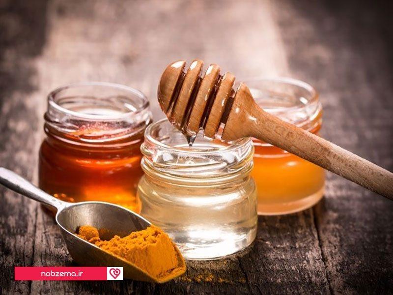عسل و زردچوبه