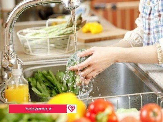 شستشو سبزیجات