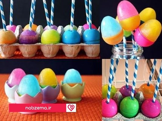 خالی کردن تخم مرغ