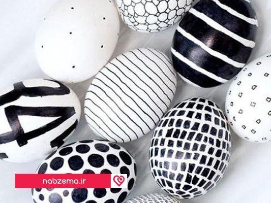 رنگ امیزی تخم مرغ عید