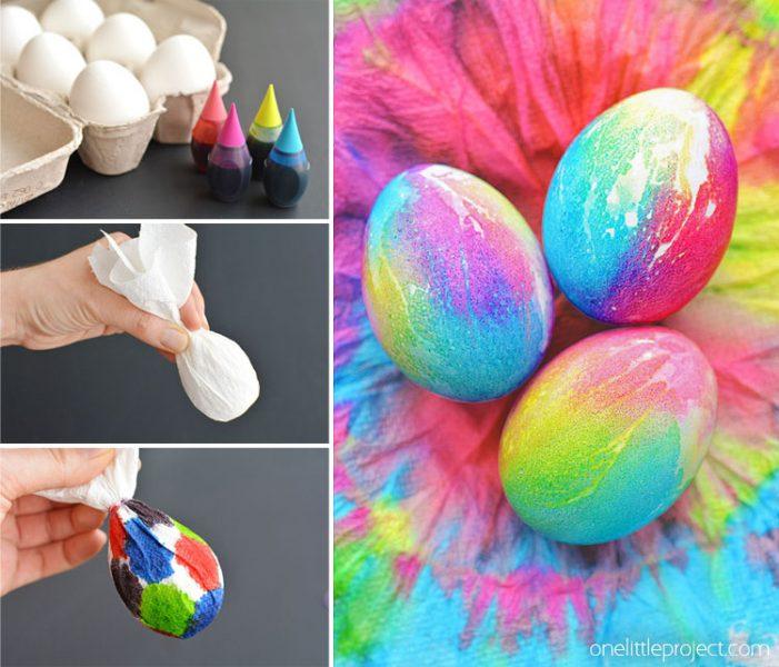 رنگ کردن تخم مرغ با رنگ