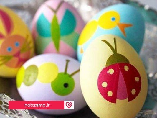 تخم مرغ رنگی کودکانه