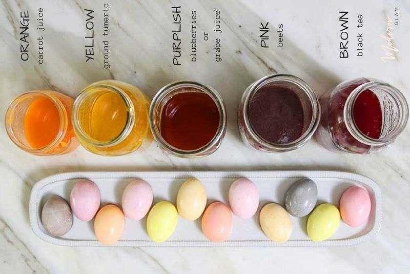 رنگ کردن تخم مرغ عید با سرکه و رنگهای غذایی