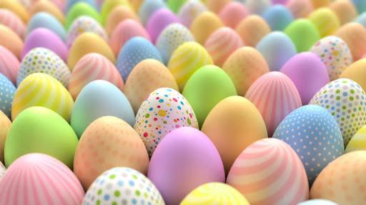 تخم مرغ رنگ شده زیبا