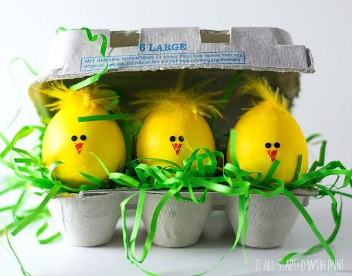تخم  مرغ رنگ شده مدل جوجه