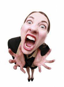 زن عصبانی