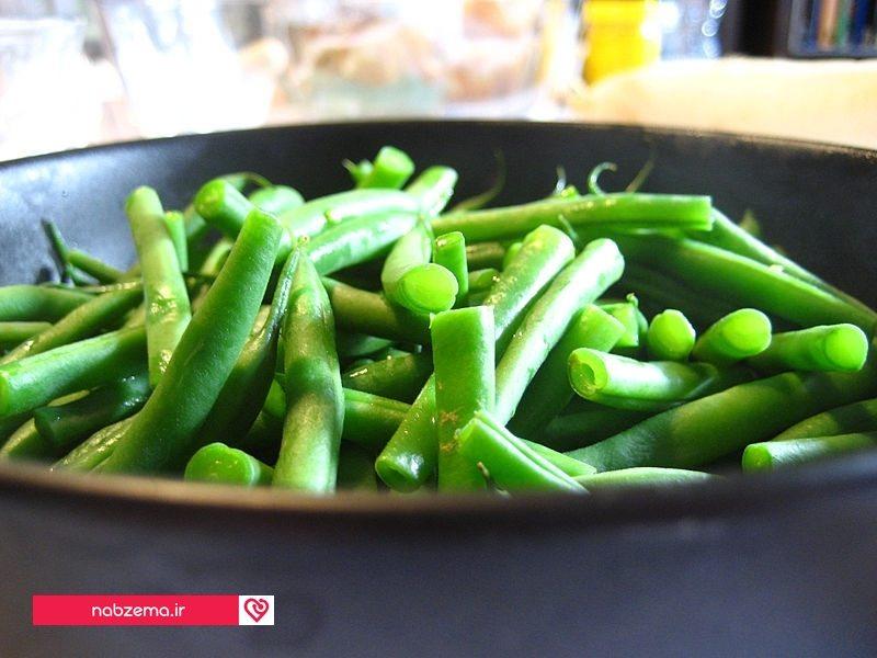 لوبیا سبز تازه