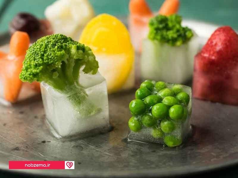 سبزی های منجمد
