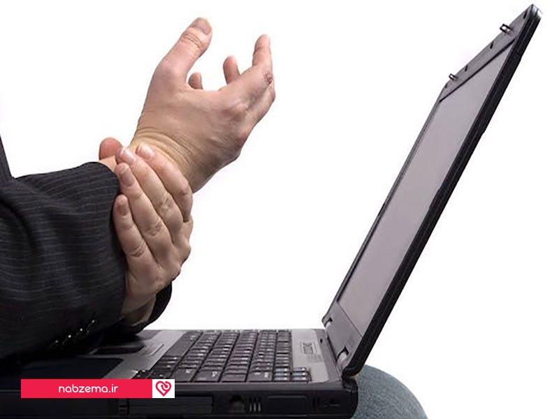 آسیب به دست کار طولانی با کامپیوتر