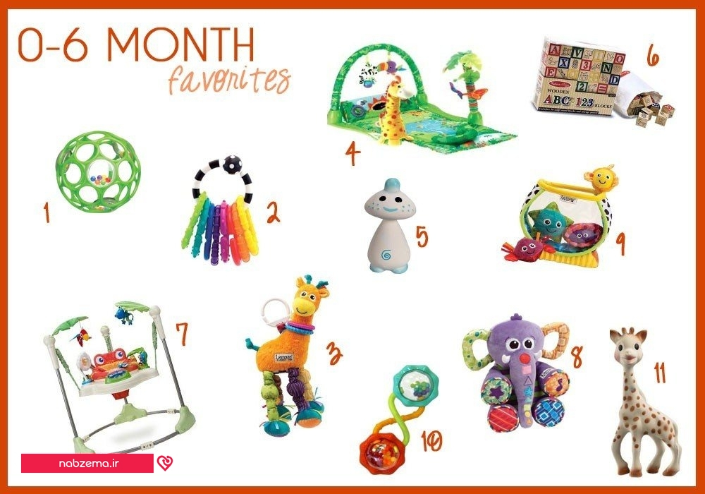 اسباب بازی ها برای کودک ۶ ماهه