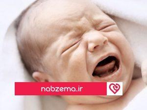 نوزادی در حال گریه