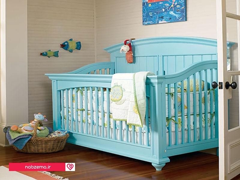 سرویس خواب چوبی اتاق نوزاد