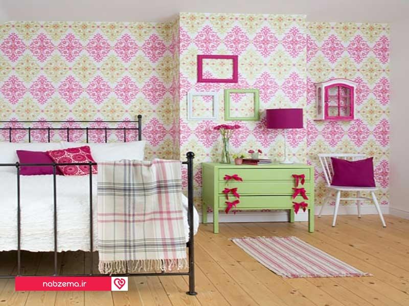 کاغذ دیواری اتاق خواب نوجوان دخترانه