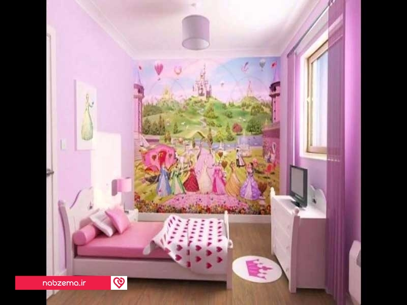 کاغذ دیواری دخترانه اتاق خواب