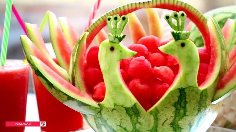 تزیین هندوانه برای عروس