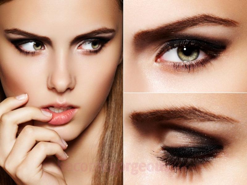آرایش چشم مشکی ریز