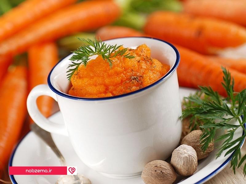 درمان خلط پشت حلق با هویج