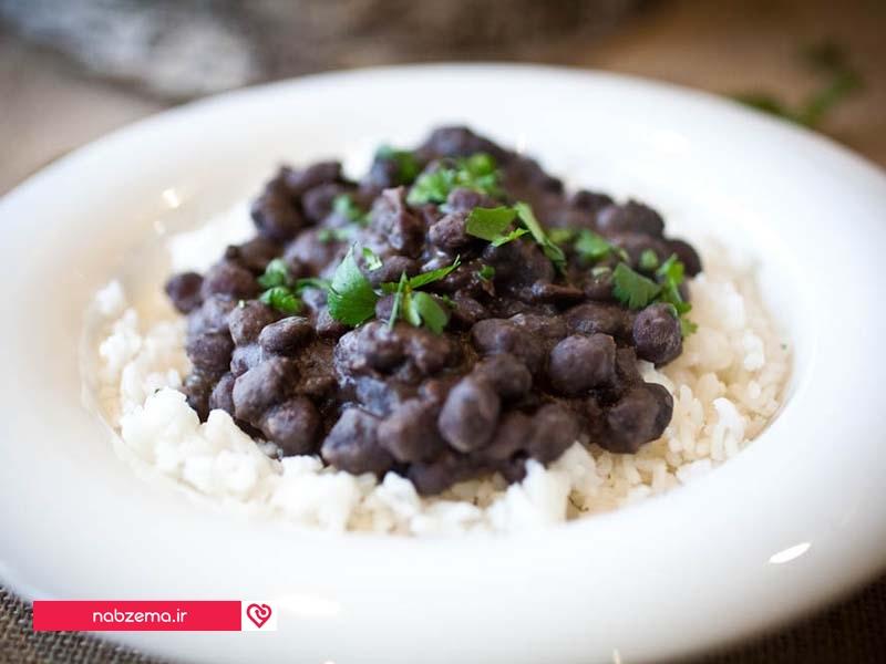 برنج و لوبیا سیاه