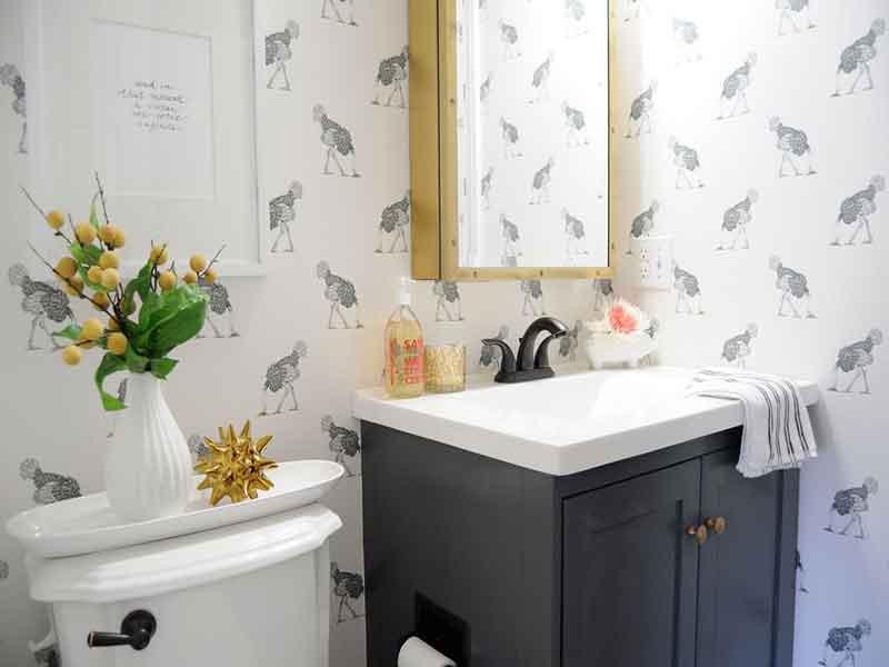 تزیین دیوار دستشویی