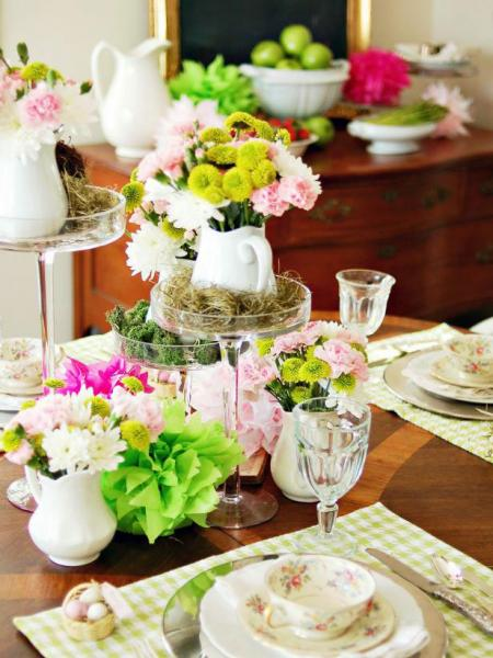 تزئین میز پذیرایی