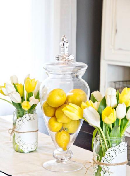 تزئین میز پذیرایی با لیمو