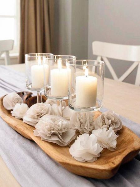 تزئین با شمع