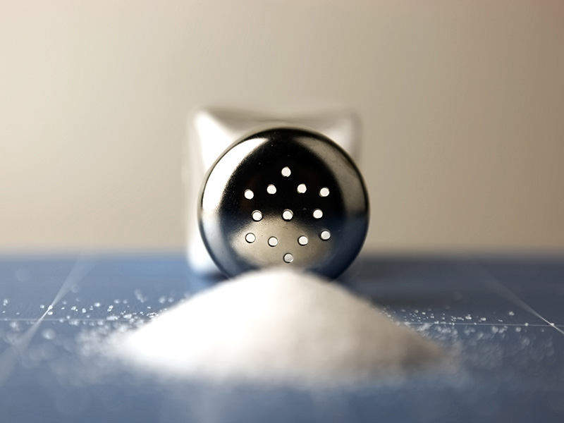 نمک و لاغری