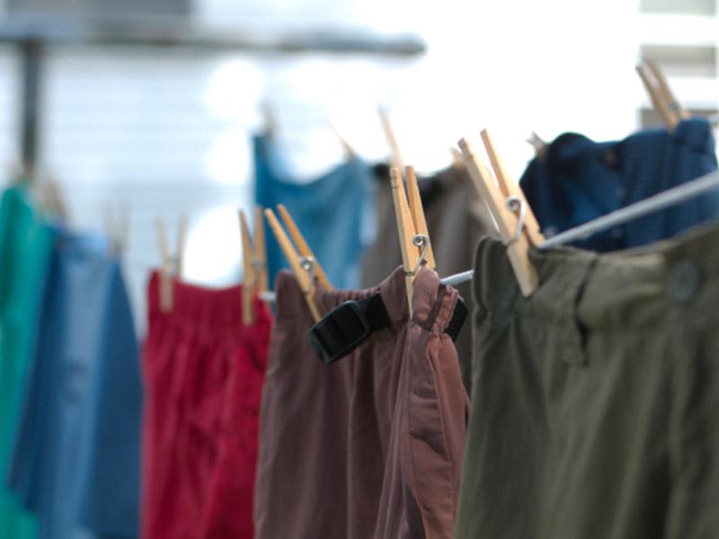 خشک کردن لباس در خانه
