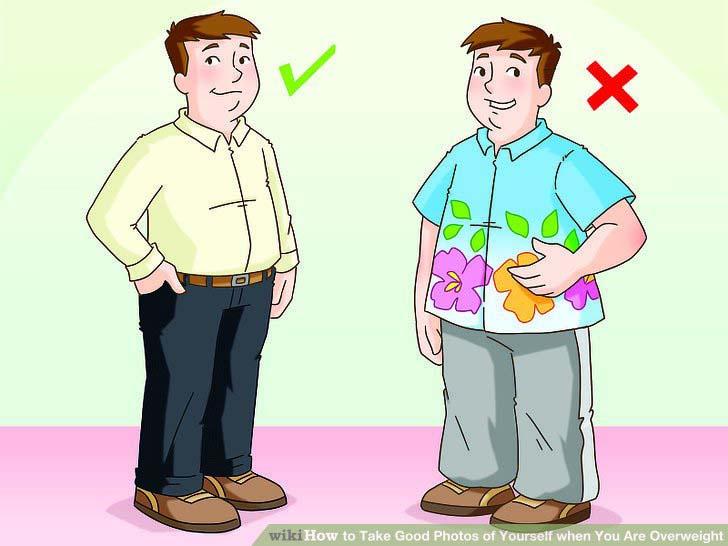 رنگ لباس برای افراد چاق