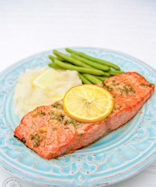 طرز تهیه ماهی سالمون کبابی