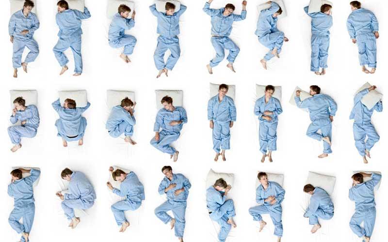 عکس طرز صحیح خوابیدن برای دیسک