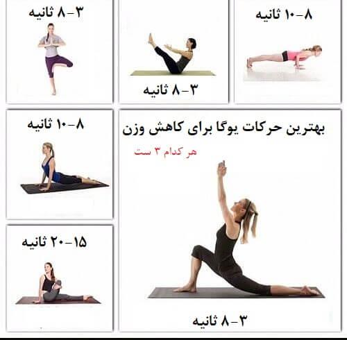 تمرینات یوگا برای لاغری شکم
