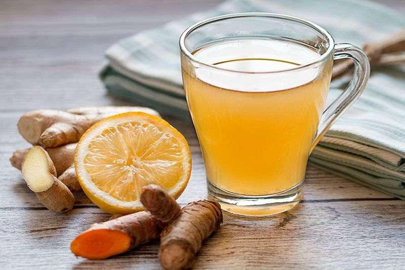 دمنوش زمستانی زنجبیل و لیمو